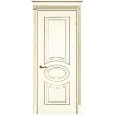 Межкомнатная дверь Смальта-03 слоновая кость RAL 1013 золото ДГ