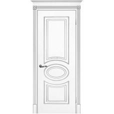 Межкомнатная дверь Смальта-03 белая RAL 9003 золото ДГ